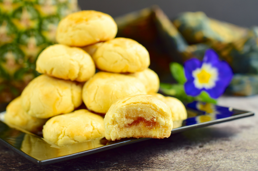 Pineapple tarts, one of the top 10 Chinese New Year cookies