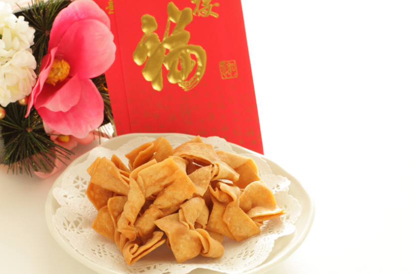 Ribbon cookies, nostalgic Chinese New Year Cookie
